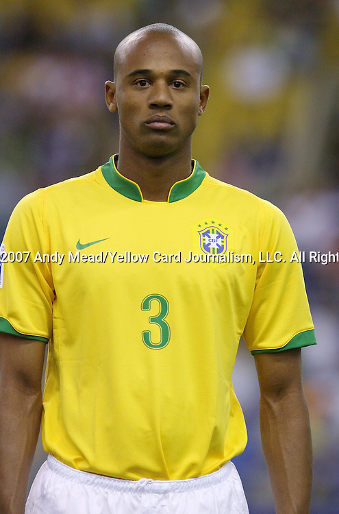 30 June 2007: Brazil's Luizao. At Le Stade Olympique in Montreal, Quebec, Canada. Poland's Under-20 Men's National Team defeated Brazil's Under-20 Men's National Team 1-0 in a Group D opening round match during the FIFA U-20 World Cup Canada 2007 tournament.