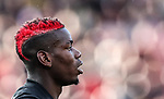 Manchester United's Paul Pogba's haircut during the premier league match at the Britannia Stadium, Stoke on Trent. Picture date 9th September 2017. Picture credit should read: David Klein/Sportimage
