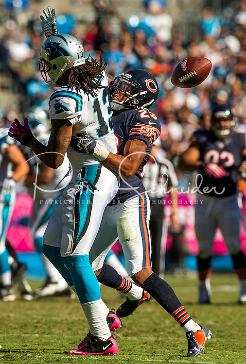 Sports action photography of the Carolina Panthers against the Chicago Bears during their NFL game at Bank of America Stadium in Charlotte, North Carolina.  <br /> <br /> Charlotte Photographer - Patrick SchneiderPhoto.com