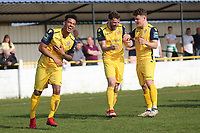 Bradley Warner celebrates his second goal during Witham Town vs AFC Hornchurch, Bostik League Division 1 North Football at Spa Road on 14th April 2018