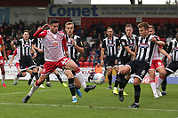 Michael Timlin of Stevenage goes close during Stevenage vs Grimsby Town, Sky Bet EFL League 2 Football at the Lamex Stadium on 12th October 2019