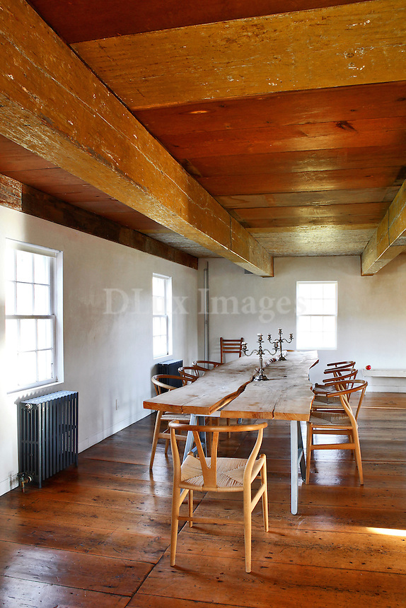 wooden dining room