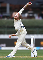 30th November 2019, Hamilton, New Zealand;  England's Ben Stokes bowling on day 2 of 2nd test match between New Zealand and England,  International Cricket at Seddon Park, Hamilton, New Zealand.  - Editorial Use