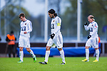 Uppsala 2014-05-07 Fotboll Superettan IK Sirius - &Ouml;stersunds FK :  <br /> &Ouml;stersunds Brwa Nouri deppar med lagkamrater<br /> (Foto: Kenta J&ouml;nsson) Nyckelord:  Superettan Sirius IKS &Ouml;stersund &Ouml;FK depp besviken besvikelse sorg ledsen deppig nedst&auml;md uppgiven sad disappointment disappointed dejected