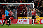Sheffield United players looks dejected after conceding the opening goal of the game during the Premier League match at Bramall Lane, Sheffield. Picture date: 5th December 2019. Picture credit should read: James Wilson/Sportimage