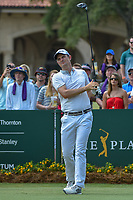 Justin Rose (GBR) watches his tee shot on 1 during round 3 of The Players Championship, TPC Sawgrass, at Ponte Vedra, Florida, USA. 5/12/2018.<br /> Picture: Golffile | Ken Murray<br /> <br /> <br /> All photo usage must carry mandatory copyright credit (&copy; Golffile | Ken Murray)