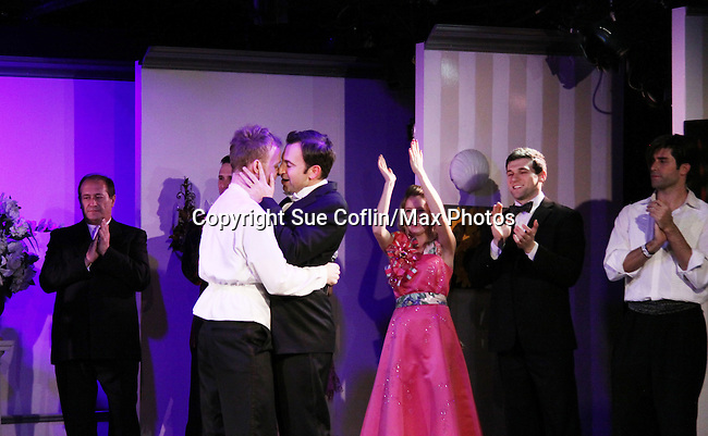 Curtain Call - As The World Turns Marnie Schulenberg stars with Marty Thomas & Anthony Wilkinson in My Big Gay Italian Wedding on March 18, 2011 (also 3-17- & 3-20) at St. Luke's Theatre, New York City, New York. (Photo by Sue Coflin/Max Photos)