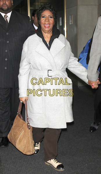 NEW YORK, NY - OCTOBER 3: Aretha Franklin at NBC's Today Show in New York City on October 3, 2014. <br /> CAP/MPI/RW<br /> &copy;RW/ MediaPunch/Capital Pictures