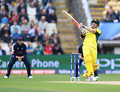 June 10th 2017, Edgbaston, Birmingham, England;  ICC Champions Trophy Cricket, England versus Australia; David Warner of Australia pulls the ball for 4