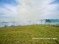 63863-02714 Summer prairie burn Prairie Ridge State Natural Area - aerial - Marion Co. IL