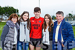 Jack Brosnan celebrates winning the Mid kerry final against Laune Rangers in Killorglin on Sunday with l-r: Irena Brosnan, Bebhinn woods, Adrienne and Donal Brosnan