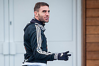 Wednesday  06 January 2016<br /> Pictured: Angel Rangel of Swansea<br /> Re: Swansea City Training session at the Fairwood training ground, Swansea, Wales, UK
