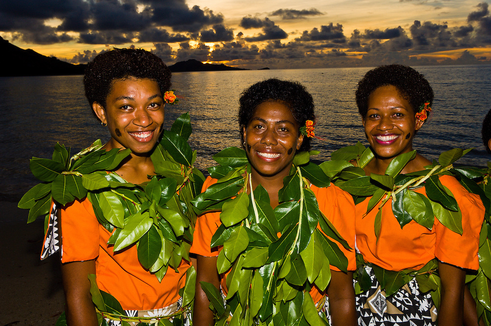 Fijian Women Nukubati Island Resort Fiji Islands Blaine