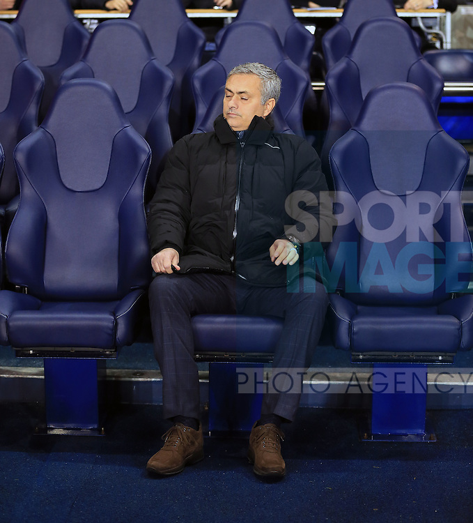 Chelsea's Jose Mourinho in action<br /> <br /> Barclays Premier League - Tottenham Hotspur vs Chelsea - White Hart Lane  - England - 1st January 2015 - Picture David Klein/Sportimage