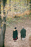 Josko with his wife Loredana in the woodlands around the village of Cormons in North East Italy