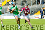 Ballyduff's Liam Boyle and Causeway's Bryan Murphy in the Garveys Supervalu Senior County Hurling Championship Round 3 Ballyduff V Causeway at Austin Stacks Park on Sunday