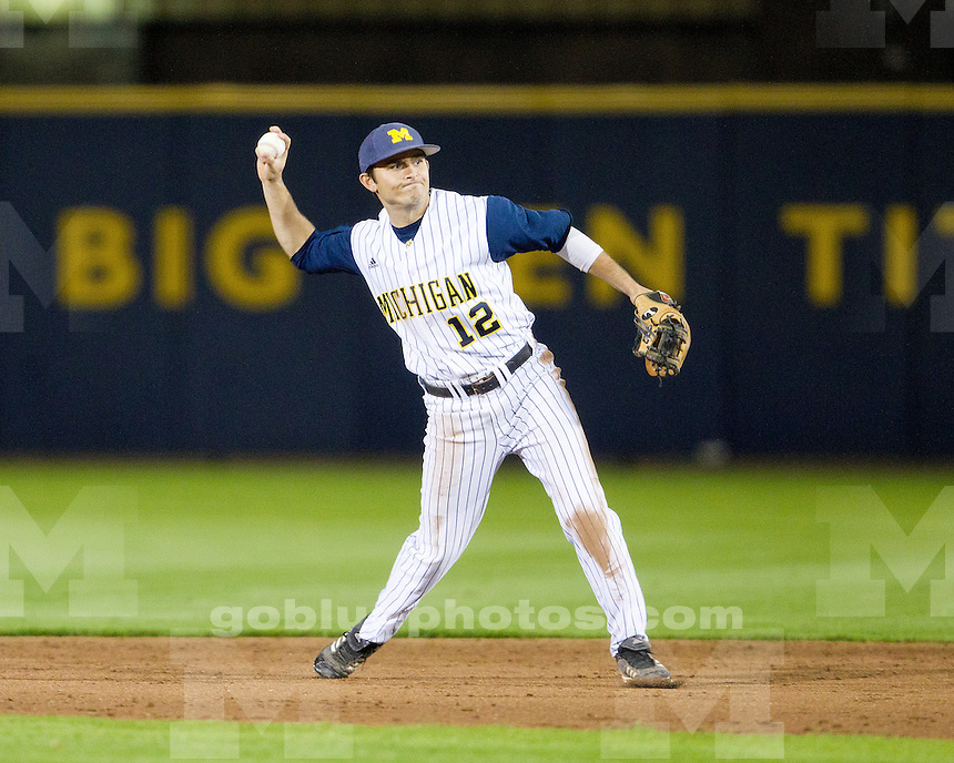 The University of Michigan baseball team lost to Coastal Carolina University, 6-1, at the Wilpon Baseball Complex in Ann Arbor, Mich., on May 8, 2012.