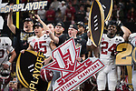 ATLANTA, GA - JANUARY 08: The Alabama Crimson Tide celebrates after defeating the Georgia Bulldogs during the College Football Playoff National Championship held at Mercedes-Benz Stadium on January 8, 2018 in Atlanta, Georgia. Alabama defeated Georgia 26-23 for the national title. (Photo by Jamie Schwaberow/Getty Images)