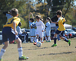 Jackson Newman plays in the Kick It 3v3 soccer tournament at Arlington, Tenn. on Saturday, November 2, 2013.
