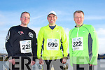 Nigel Trant, Joe Doyle and Adrian Trant at the Valentines 10 mile road race in Tralee on Saturday.