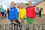 Patrick, Matthew and Harry Shanahan from Listowel with Sorcha the dog at the dog show last Saturday in Lyreacrompane for the annual Dan Paddy Annual Festival