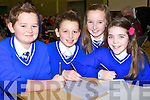 QUIZ: Listening to the questions from the quiz master at the Clanmaurice Credit Union Primary School, Quiz at Causeway Comperensive Sec School, Gym on Sunday. children from Sliabh a Mhadtra Ballydufff l-r: Aidan Whelan, Maggie Nolan, Clódaigh O'Carroll and Valerie Kiely.