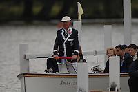 Henley, Great Britain. Henley Royal Regatta John FRIEND, umpiring a race at the 2007 Henley Royal Regatta,  Henley Reach, England 05/07/2007  [Mandatory credit Peter Spurrier/ Intersport Images]. Rowing Courses, Henley Reach, Henley, ENGLAND . HRR.