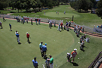 View of the putting practice area with the 18th in the background during the preview of the Tshwane Open 2015 at the Pretoria Country Club, Waterkloof, Pretoria, South Africa. Picture:  David Lloyd / www.golffile.ie. 10/03/2015