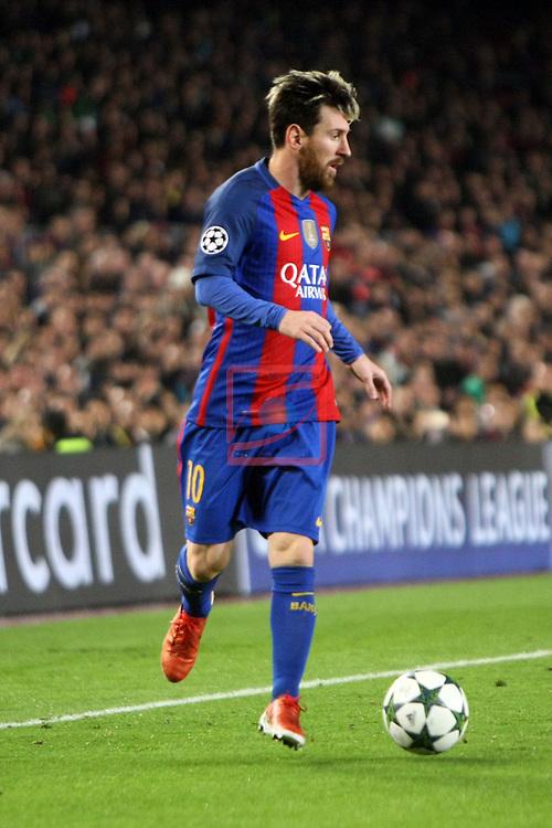UEFA Champions League 2016/2017 - Matchday 6.<br /> FC Barcelona vs VfL Borussia Monchengladbach: 4-0.<br /> Lionel Messi.