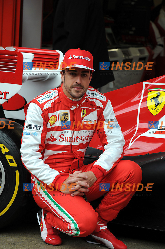 Formula 1: Test  Barcellona  19/02/2013.FERNANDO ALONSO (SPA) - FERRARI F138 - AMBIANCE PORTRAIT  .Foto Panoramic / Insidefoto .ITALY ONLY