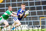 Tommy Walsh KORgets to the ball ahead of Danny Sheehan Legion during their SFC clash in Fitzgerald Stadium on Sunday