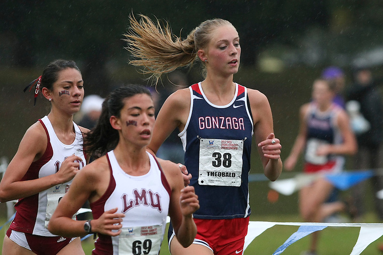 October  27, 2012; Portland, OR, USA; Gonzaga Bulldogs runner Catherine Theobald WCC Cross Country Championships at Fernhill Park.