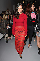 Georgia May Foote<br /> at the Teatum Jones AW17 show as part of London Fashion Week AW17 at 180 Strand, London.<br /> <br /> <br /> &copy;Ash Knotek  D3230  17/02/2017