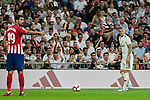 Real Madrid's Toni Kroos and Atletico de Madrid's Diego Costa during La Liga match between Real Madrid and Atletico de Madrid at Santiago Bernabeu Stadium in Madrid, Spain. September 29, 2018. (ALTERPHOTOS/A. Perez Meca)