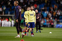 1st March 2020; Estadio Santiago Bernabeu, Madrid, Spain; La Liga Football, Real Madrid versus FC Barcelona; Lionel Messi (FC Barcelona)  Pre-match warm-up