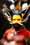 Portrait of Huli man, Papua New Guinea