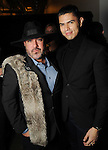 Dominick Soliz and Oscar Zuniga at the Light as Air Fashion show with leather fashions by Jose Sanchez and performances by Vault with Choreography by Amy Eli at Vault Houston Saturday Jan.10, 2015.(Dave Rossman For the Chronicle)