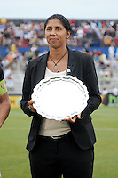 Steffi Jones (former Freedom player) inducted into the Hall of Freedom.  The LA Sol defeated the Washington Freedom 1-0 at the Maryland Soccerplex, Sunday July 5, 2009.