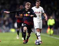Konrad Laimer of RB Leipzig  and Harry Winks of Tottenham Hotspur during Tottenham Hotspur vs RB Leipzig, UEFA Champions League Football at Tottenham Hotspur Stadium on 19th February 2020