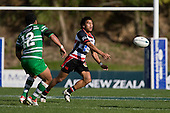 New Steelers midfield back Jason Roache. Air New Zealand Cup rugby game between the Counties Manukau Steelers & Manawatu Turbos, played at Growers Stadium Pukekohe on Staurday September 20th 2008..Counties Manukau won 27 - 14 after trailing 14 - 7 at halftime.