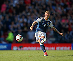 Leigh Griffiths scores the second goal for Scotland