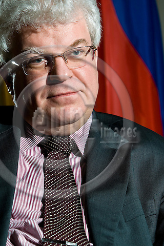 BRUSSELS - BELGIUM - 25 MARCH 2009 -- Vladimir CHIZHOV, Ambassador, Mission of the Russian Federation to the EU. -- PHOTO: Juha ROININEN / EUP-IMAGES