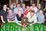 The Faha Court and Griffin's bar Castlemaine who played in the Mid Kerry pool league final in Murphy's bar, Boolteen's on Friday night front row l-r: Tom Cronin, Brendan Allen, Maurice O'Dwyer, Jerry Foley. Back row: Cathal O'Shea, Tadgh Ahern, John O'Donoghue, Paul Barrett, Michael Lawlor, Johnny Fitzgerald and Jimmy Dwyer....