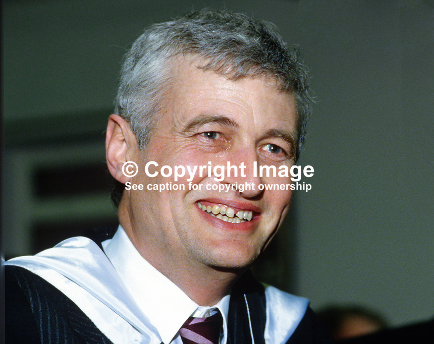 William Sillery, aka Bill Sillery, headmaster, principal, Belfast Royal Academy, Belfast, N Ireland, UK, 19850025WS..Copyright Image from Victor Patterson, 54 Dorchester Park, Belfast, UK, BT9 6RJ..Tel: +44 28 9066 1296.Mob: +44 7802 353836.Voicemail +44 20 8816 7153.Skype: victorpattersonbelfast.Email: victorpatterson@mac.com.Email: victorpatterson@ireland.com (back-up)..IMPORTANT: If you wish to use this image or any other of my images please go to www.victorpatterson.com and click on the Terms & Conditions. Then contact me by email or phone with the reference number(s) of the image(s) concerned.