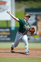 Greensboro Grasshoppers starting pitcher Taylor Braley (10) in action against the Kannapolis Intimidators at Kannapolis Intimidators Stadium on August 5, 2018 in Kannapolis, North Carolina. The Grasshoppers defeated the Intimidators 2-1 in game one of a double-header.  (Brian Westerholt/Four Seam Images)