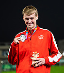 Lima, Peru -  27/August/2019 -  Zachary Gingras takes the silver medal in the men's 400m T38 at the Parapan Am Games in Lima, Peru. Photo: Dave Holland/Canadian Paralympic Committee.