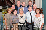 Breda and Con O'Sullivan from Killarney who got married on friday celebrated their Wedding Afters surrounded by friends and family in the Avenue Hotel, Killarney last Saturday night. Pictured with front l-r Mary Kearns, Siobhan Buckley and Sheila Griffin, Back l-r Kelvin O'Connell, Andy Corcoran, Derek Whelan, Mick Kavanagh and Martin O'Connor.