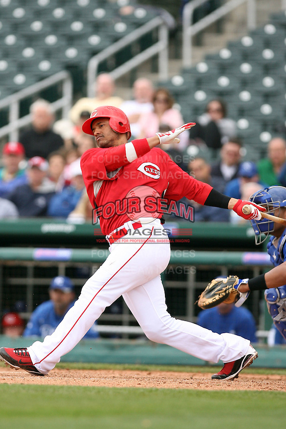 Orlando Cabrera. Cincinnati Reds spring training game vs. Kansas City Royals at Goodyear Park, Goodyear, AZ - 03/07/2010.Photo by:  Bill Mitchell/Four Seam Images.