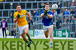 Gavin White, Kerry in action against Robin Clarke, Meath during the Allianz Football League Division 1 Round 4 match between Kerry and Meath at Fitzgerald Stadium in Killarney, on Sunday.