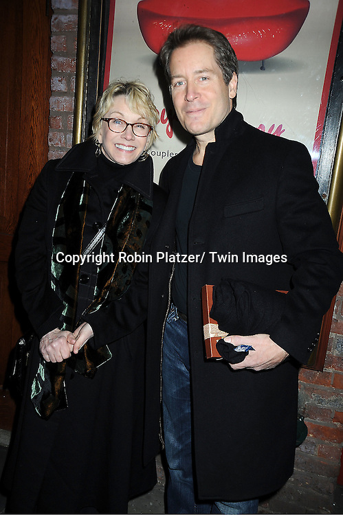 "Sandy Duncan and Laurence Lau attend the opening Night of  ""Psycho Therapy"" on February 7, 2012 at The Cherry Lane Theatre in New York City. The show stars, Angelica Page, Jeffrey Carlson, Jan Leslie Harding and Laurence Lau."